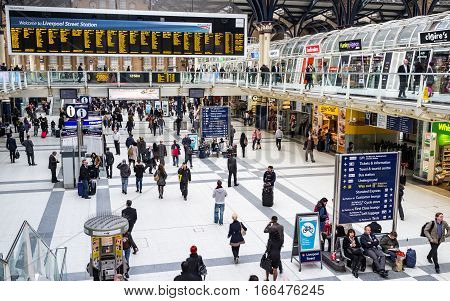 Liverpool Street Railway Station, London