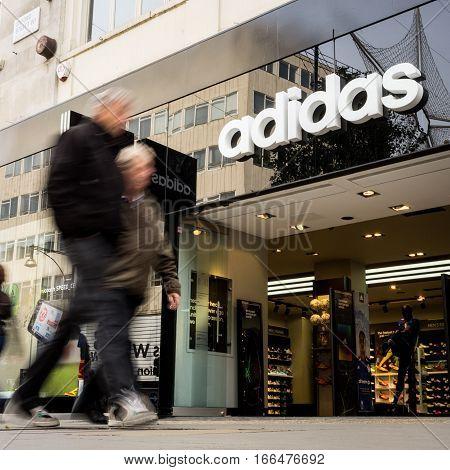 Adidas Store, Oxford Street, London