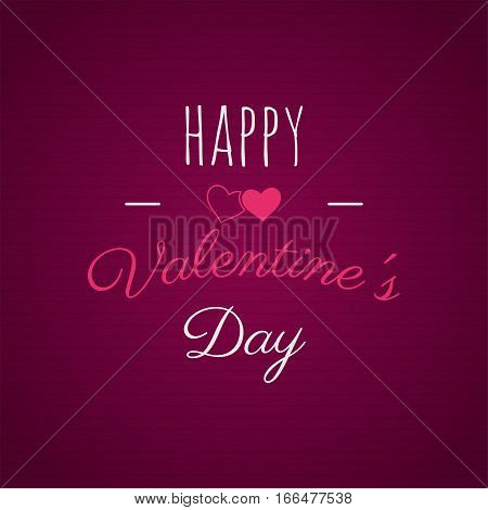 Happy Valentines day lettering. Vector photo overlay, hand drawn lettering , inspirational text. Valentine day label. Custom quote on pink background. Best for gift card, brochure. Stock vector.