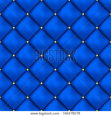 Vector seamless buttoned leather pattern vector. Upholstery or walls. Can be used for Wallpaper, web background