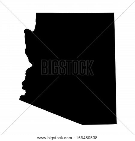 map of the U.S. state of Arizona