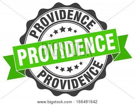 Providence. round isolated grunge vintage retro stamp