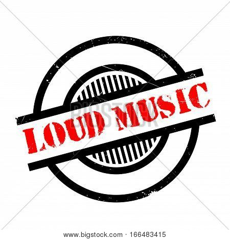 Loud Music rubber stamp. Grunge design with dust scratches. Effects can be easily removed for a clean, crisp look. Color is easily changed.
