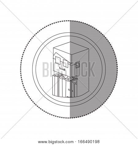 silhouette sticker lego with portrait female judge vector illustration poster