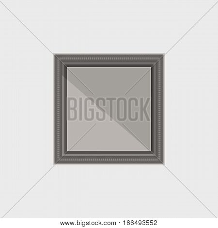 Created simple dark frame with mirror reflection stock vector