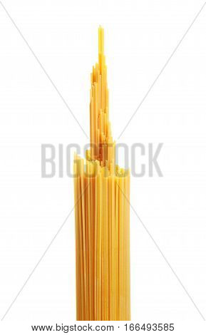 Bunch Of Spaghetti Pasta. Isolated On White Background