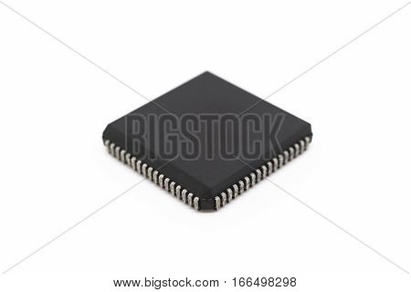Semiconductors On White Background.