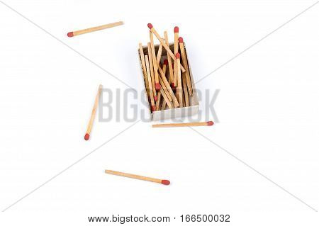 Sulfur Matches Matchbox Isolated Start Light Fire