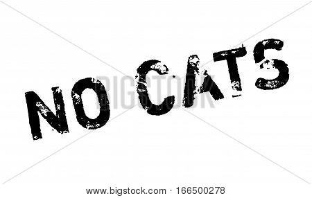 No Cats rubber stamp. Grunge design with dust scratches. Effects can be easily removed for a clean, crisp look. Color is easily changed.