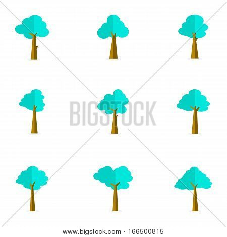 Tree vector flat of set collection stock