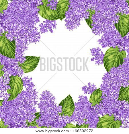 Colorful Hand Drawn Floral Background With Lilac