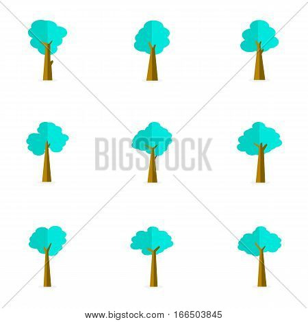 Vector flat of tree stock collection illustration