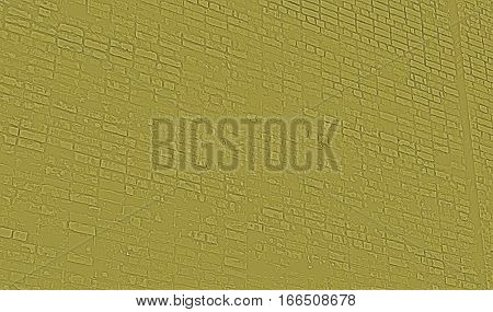 Abstract image of a brick wall yellow. Grunge brick wall. Brick, brick wall texture, brick wall background. Yellow grunge.