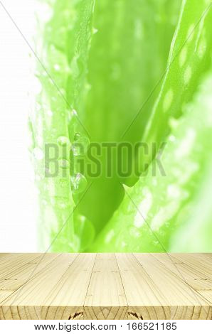 Closed-up Of Aloe Vera Leaves As Background.