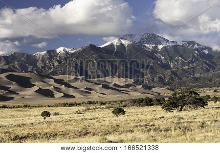 Great Sand Dunes National Park is located in the San Luis Valley of Southern Colorado.