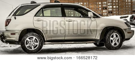 Kazakhstan, Ust-Kamenogorsk, 22 january, 2017: Lexus RX 300, side view
