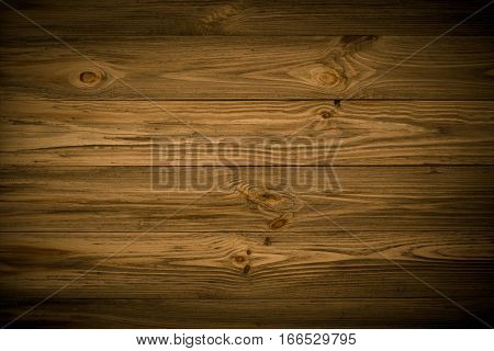 Dark background wooden texture. Front view with empty spase. Horisontal boards.