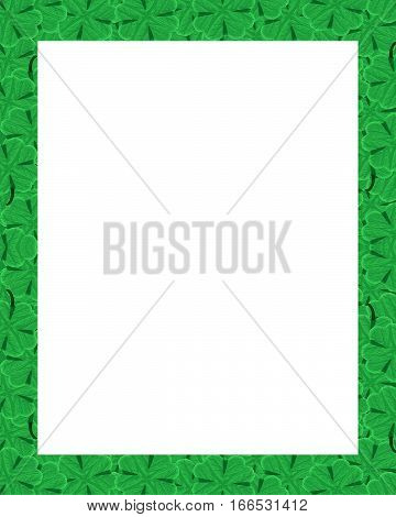 St Patrick Day Motif Border Frame