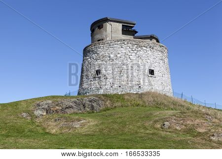 Carleton Martello Tower is a historic defense structure in Saint John town (New Brunswick Canada).