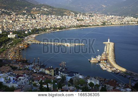 Beautiful views of the bay of Alanya