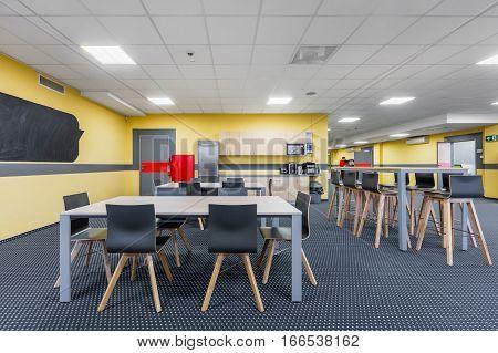 Linchroom Interior With Kitchenette