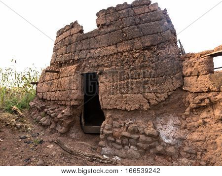 Mud House In Caratheristic Village