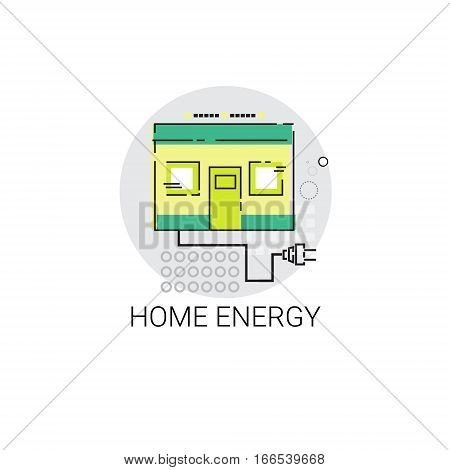 Energy Home Power Save Invention Green Ecology Vector Illustration