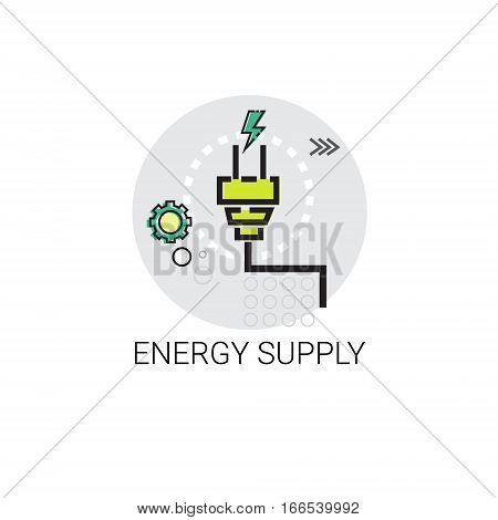 Energy Supply Power Invention Icon Vector Illustration