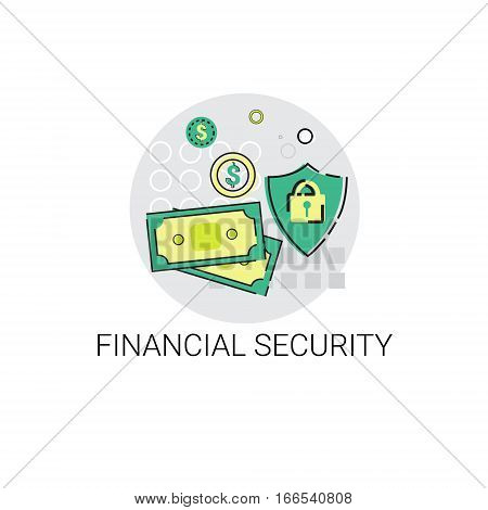 Financial Security Business Banking Icon Vector Illustration
