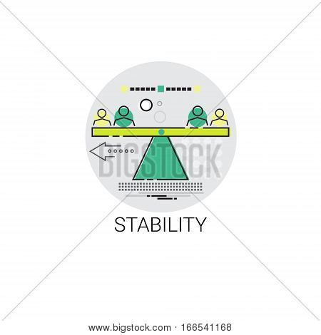 Business Stability Success Balance Icon Vector Illustration