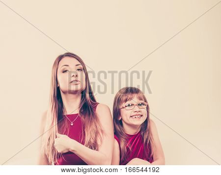 Mommy And Daughter Having Fun