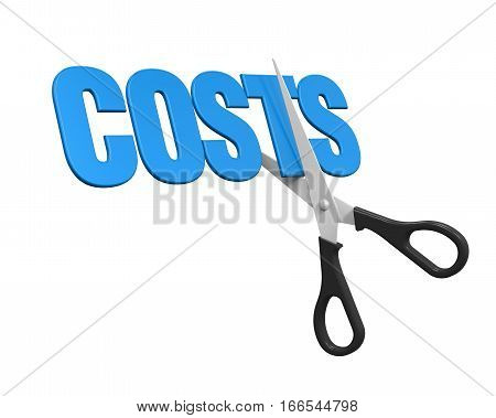 Costs Cuts Concept isolated on white background. 3D render