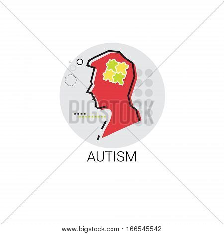 Autism Mental Health Brain Activity Icon Vector Illustration