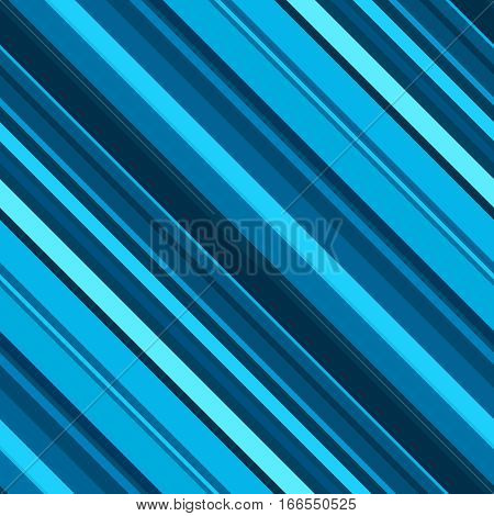 Diagonal Stripes Pattern, Blue Seamless Texture Background. Ideal For Printing Onto Fabric And Paper