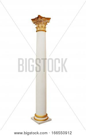 column in classical architectural style isolated on white background.