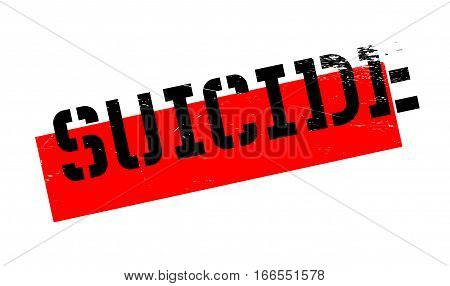 Suicide rubber stamp. Grunge design with dust scratches. Effects can be easily removed for a clean, crisp look. Color is easily changed.