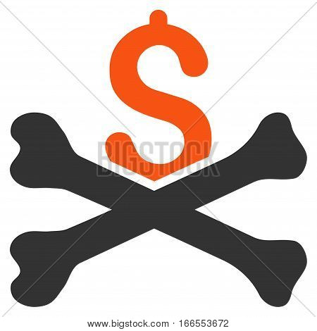 Financial Crash vector pictogram. Style is flat graphic symbol.