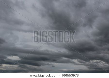 Overcast sky of rain clouds forming in the sky in concept of climate Poor weather in the daytime.
