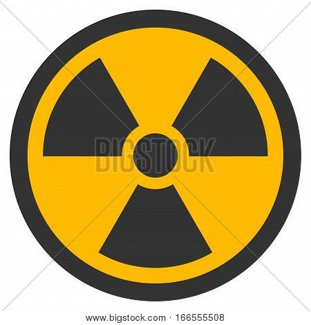 Radioactive vector pictograph. Style is flat graphic symbol.