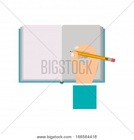 Writing on notebook icon vector illustration graphic design