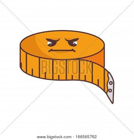 ribbon measure tape character comic icon vector illustration design