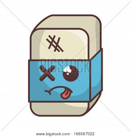 eraser tool school isolated icon vector illustration design
