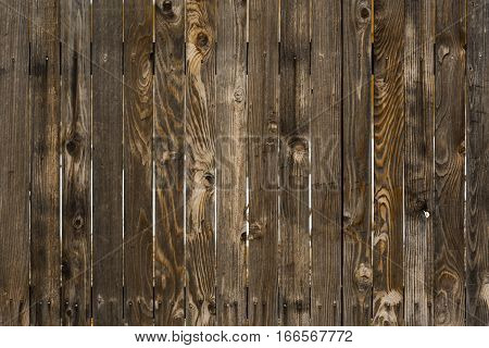 Weathered Wood Fence closeup with strong vertical lines