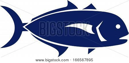 Illustration of a crevalle jack Caranx hippos also known as the common jack black-tailed trevally couvalli jack black cavalli jack crevale and yellow cavalli a common species of large marine fish classified within the jack family viewed from the side on i