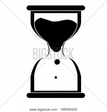 Isolated sand clock icon on a white background, Vector illustration