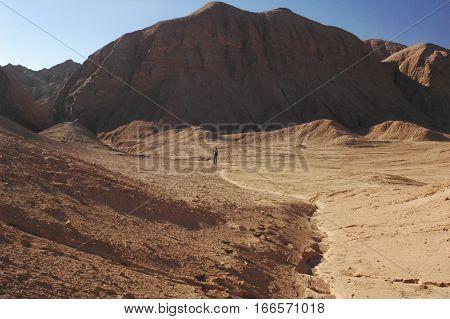 Martian landscape at the Quebrada del diablo