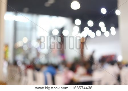 abstract blur background of people in the Shopping mall for Design backdrop of Presentation.