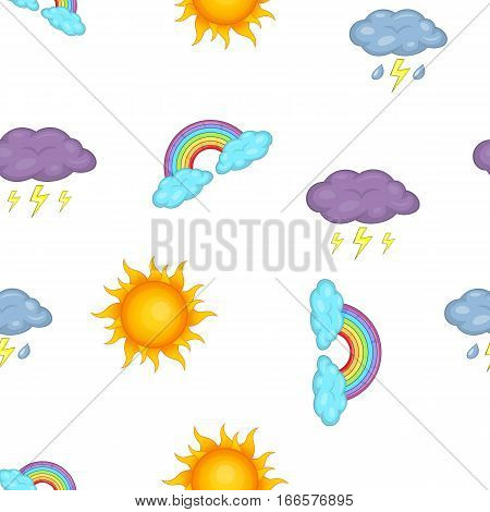 Weather forecast pattern. Cartoon illustration of weather forecast vector pattern for web