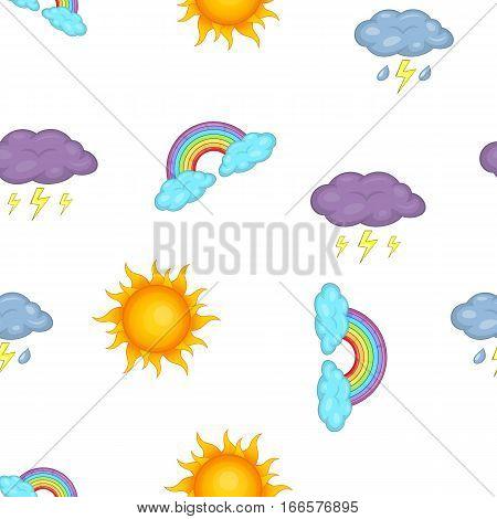 Weather forecast pattern. Cartoon illustration of weather forecast vector pattern for web