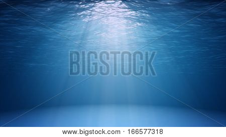 Blue Ocean Surface Seen From Underwater